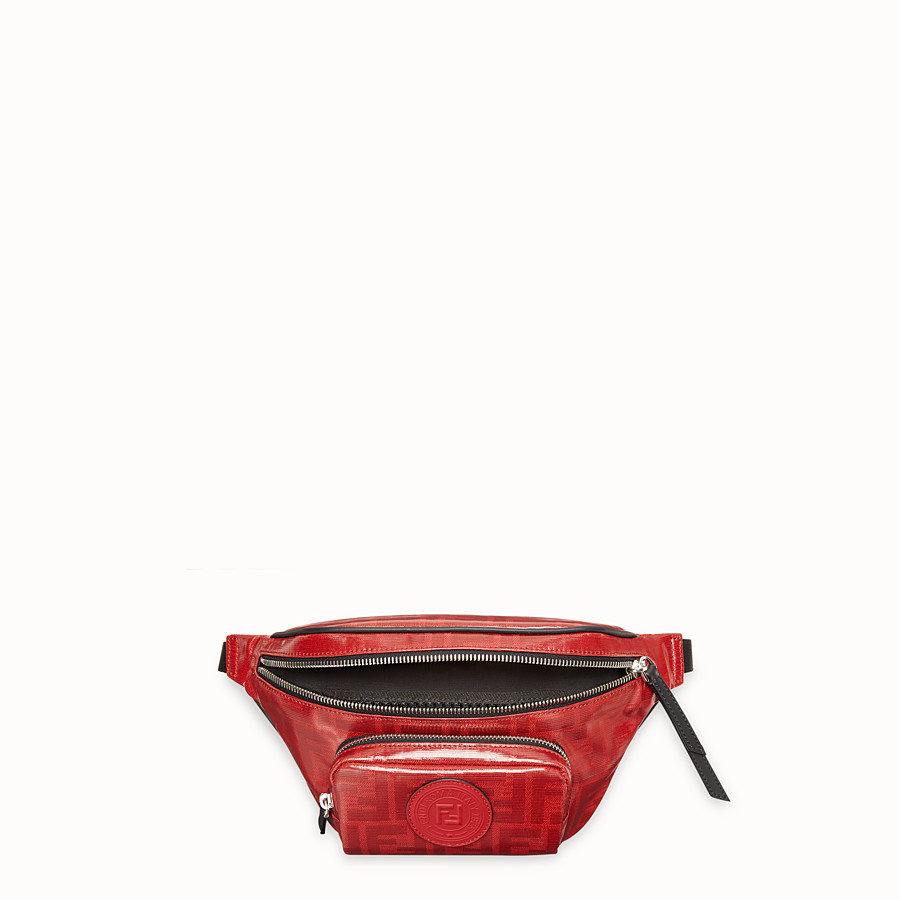 FENDI BELT BAG - Red fabric belt bag - view 4 detail