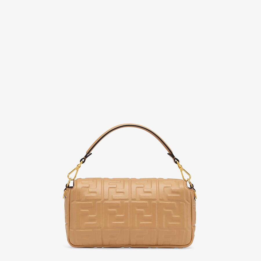 FENDI BAGUETTE - Light brown nappa leather bag - view 4 detail