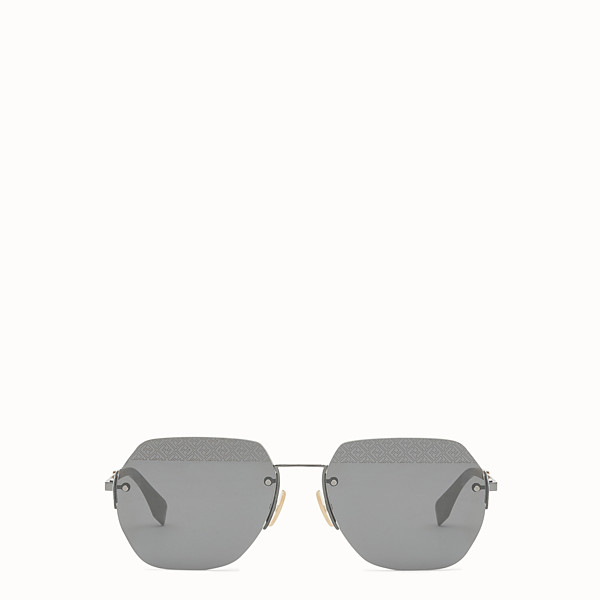 FENDI FF - Black ruthenium sunglasses - view 1 small thumbnail