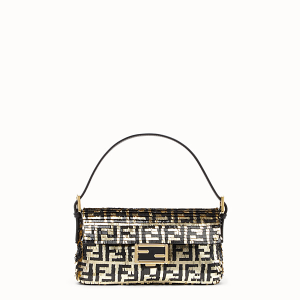 FENDI BAGUETTE - Bag with black and gold sequins - view 1 small thumbnail