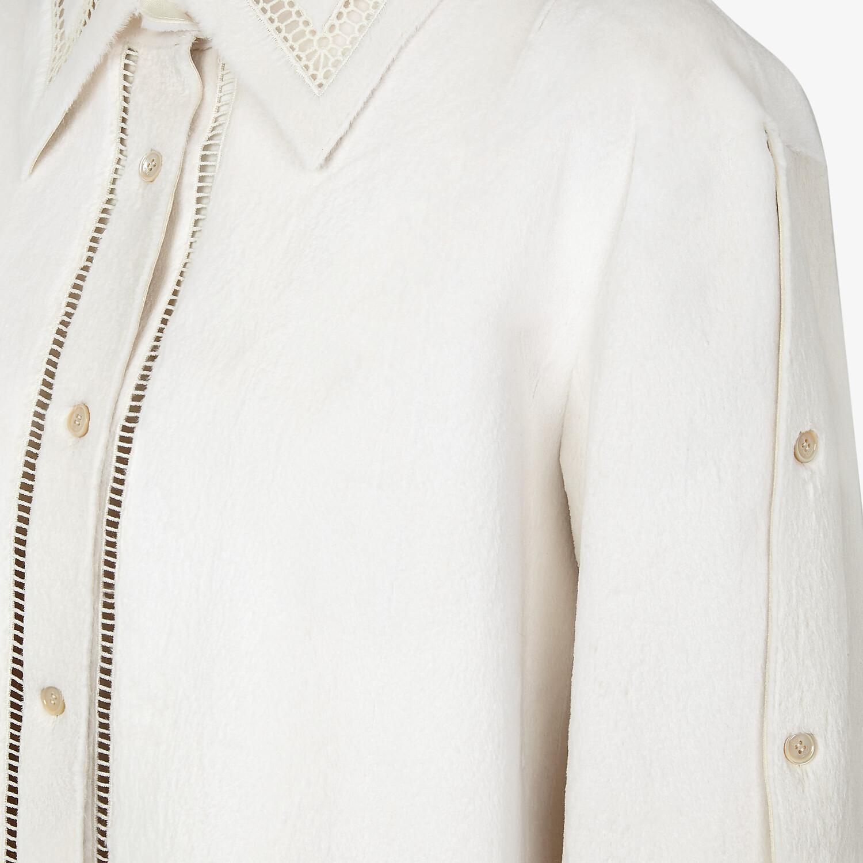 FENDI SHIRT - White mink shirt - view 3 detail
