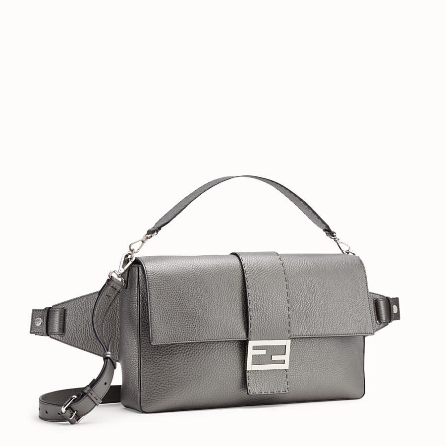 FENDI BAGUETTE - Grey leather bag - view 2 detail