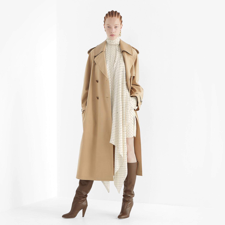 FENDI TRENCH COAT - Beige cotton trench coat - view 4 detail
