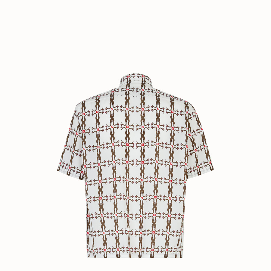 FENDI SHIRT - Shirt in white fabric - view 2 detail
