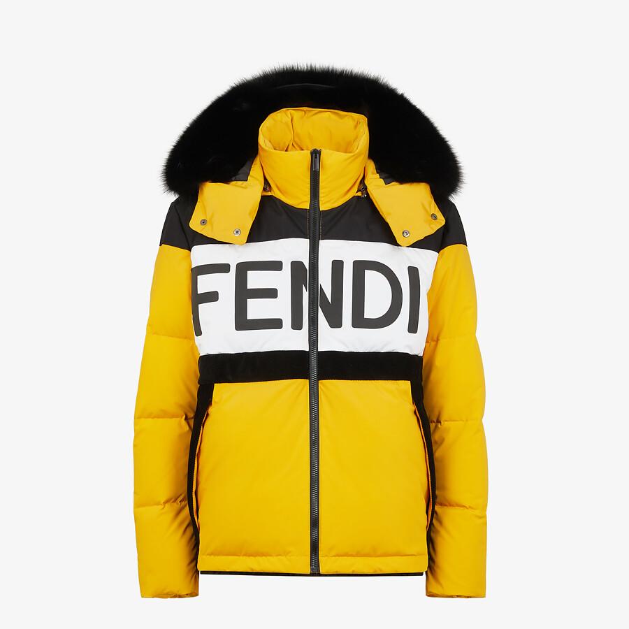FENDI DOWN JACKET - Yellow tech fabric down jacket - view 1 detail