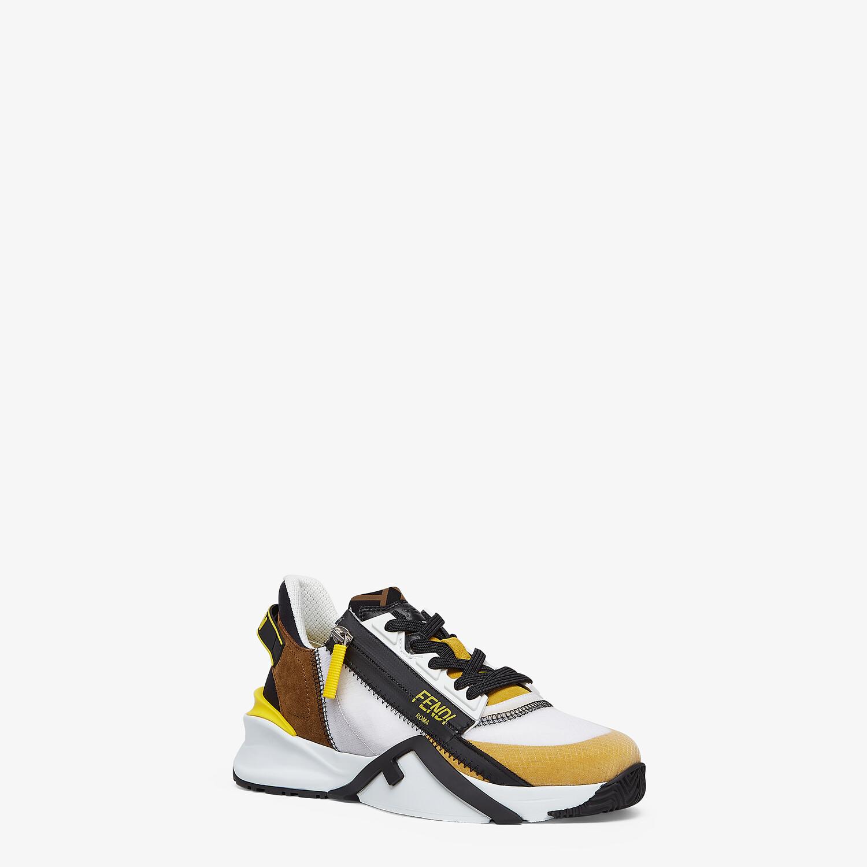 FENDI FENDI FLOW - Yellow nylon and suede low-tops - view 2 detail