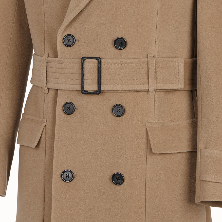 FENDI COAT - Brown wool coat - view 3 detail