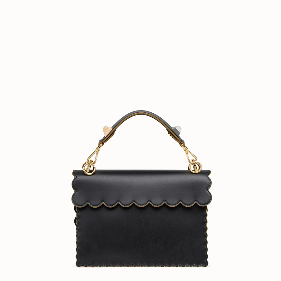 FENDI KAN I - Black and gold leather bag - view 3 detail