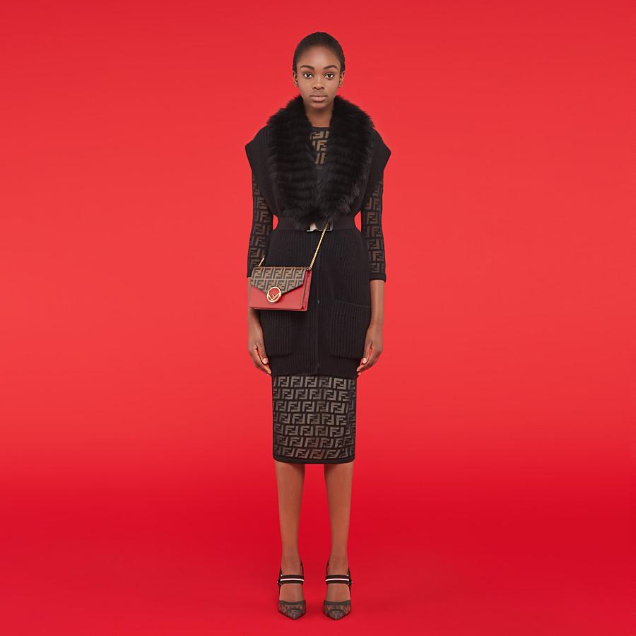 FENDI ROBE - Robe en coton noir - view 4 detail