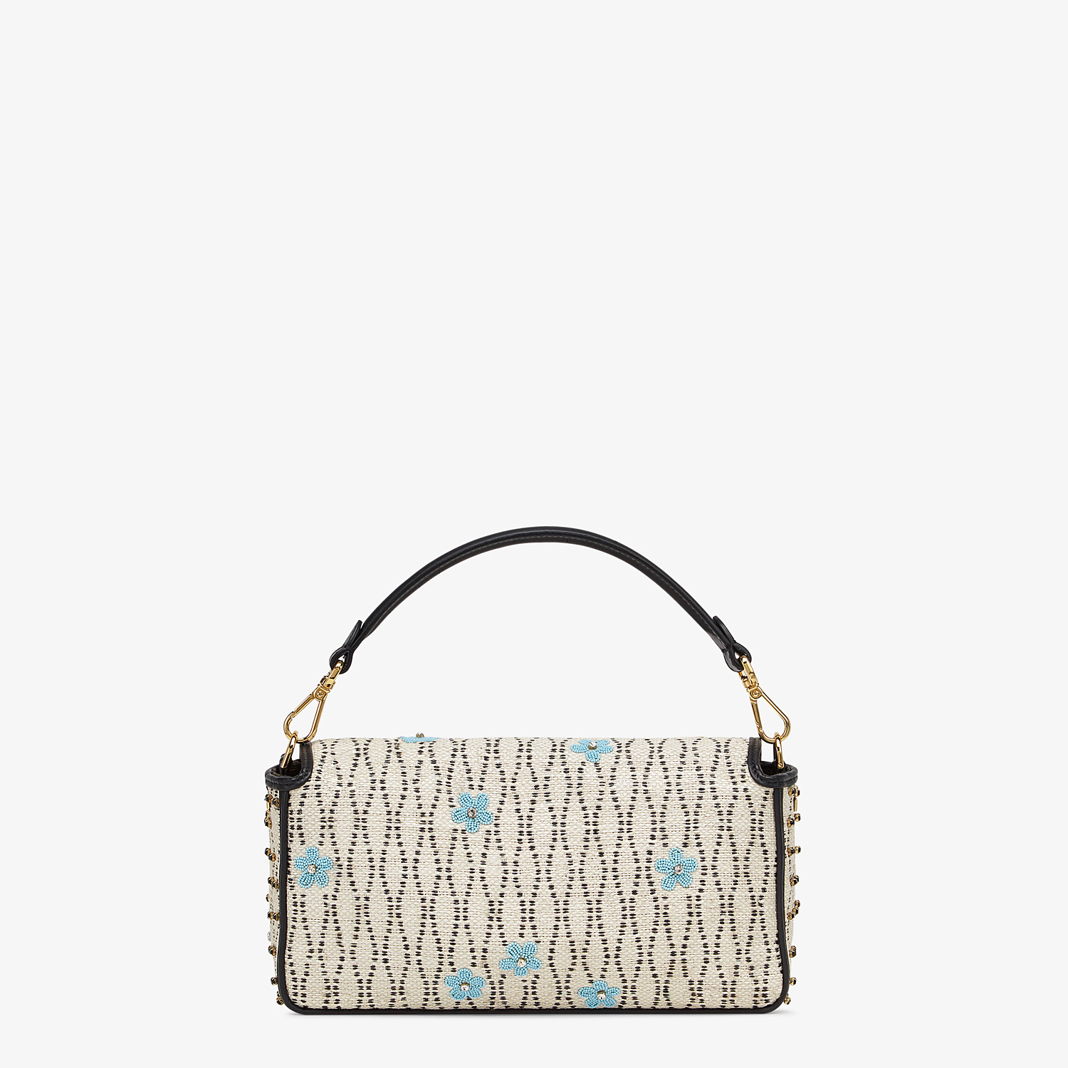 FENDI BAGUETTE - White raffia bag - view 3 detail