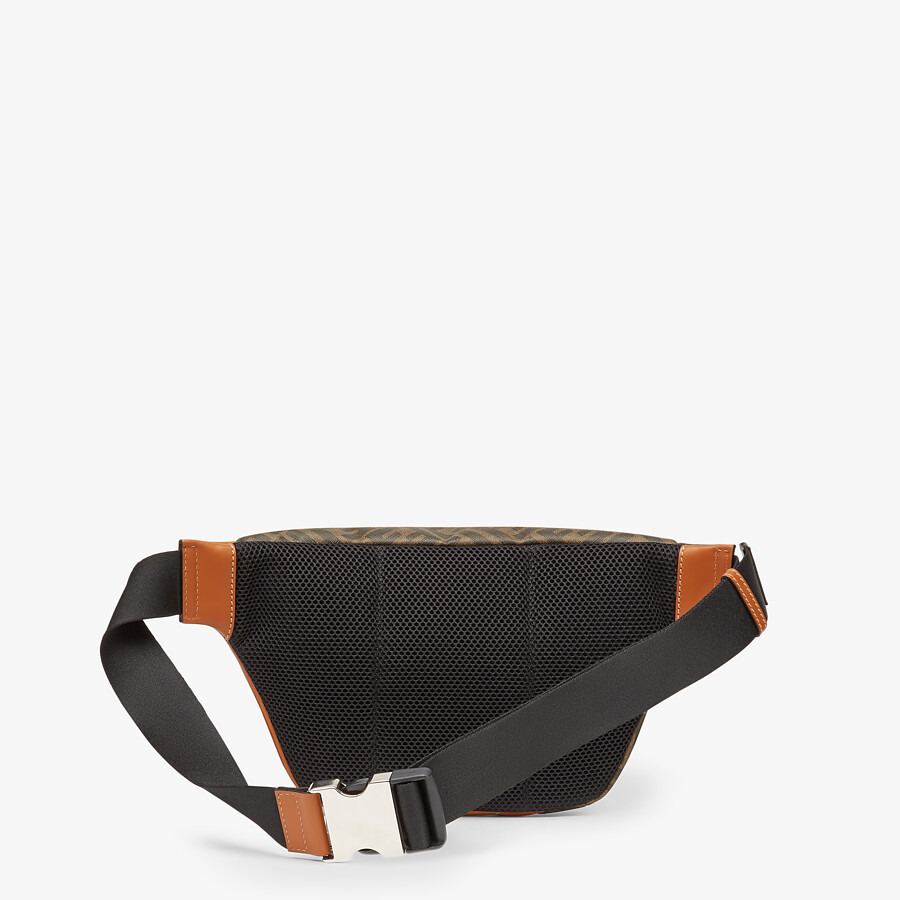 FENDI BELT BAG - Brown fabric belt bag - view 3 detail