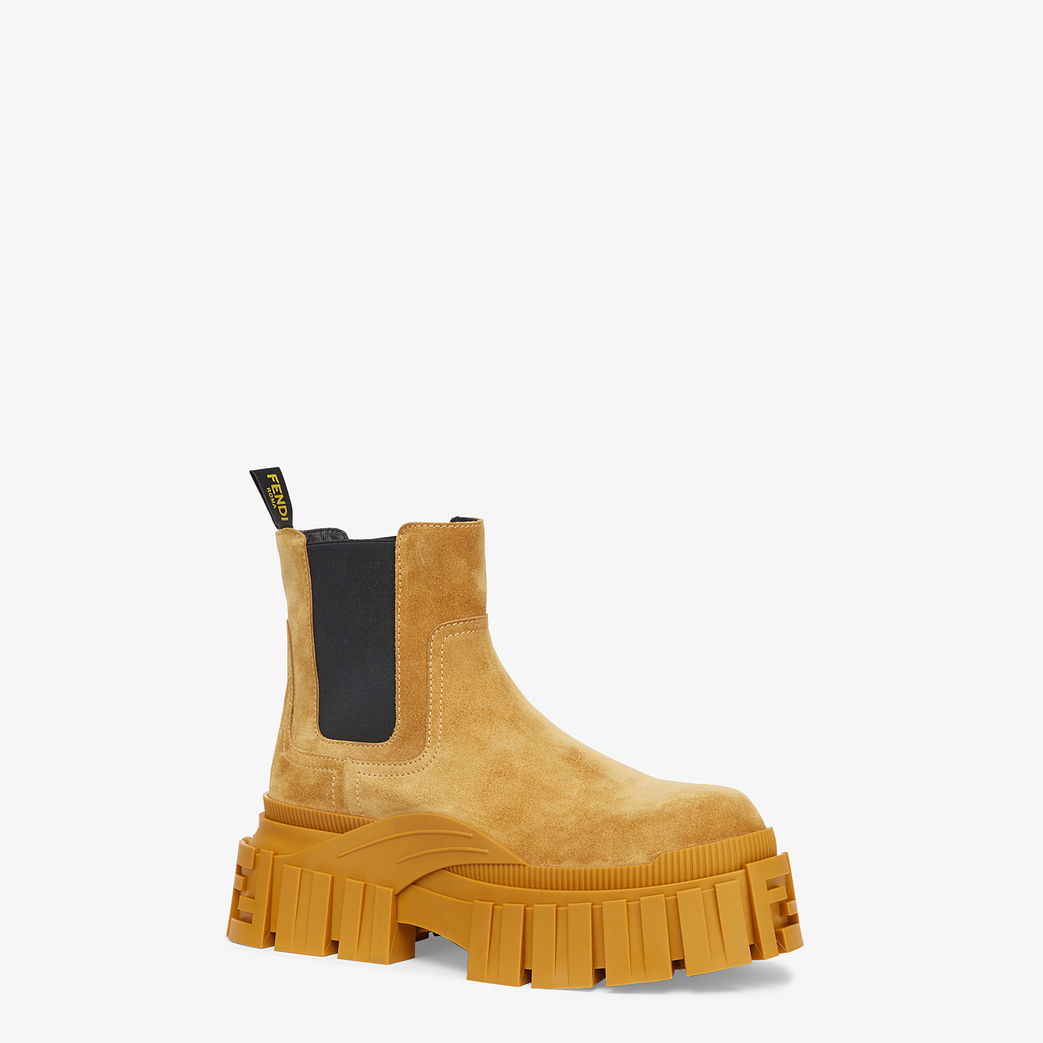 FENDI FENDI FORCE - Yellow suede Chelsea boots - view 2 detail