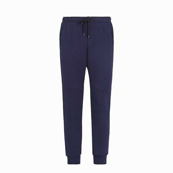 FENDI TROUSERS - Blue cotton trousers - view 1 small thumbnail