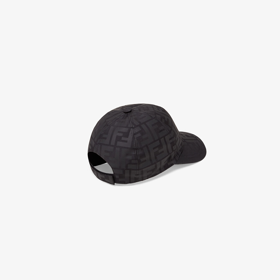 FENDI JUNIOR BASEBALL CAP - Matte black nylon junior baseball cap - view 2 detail