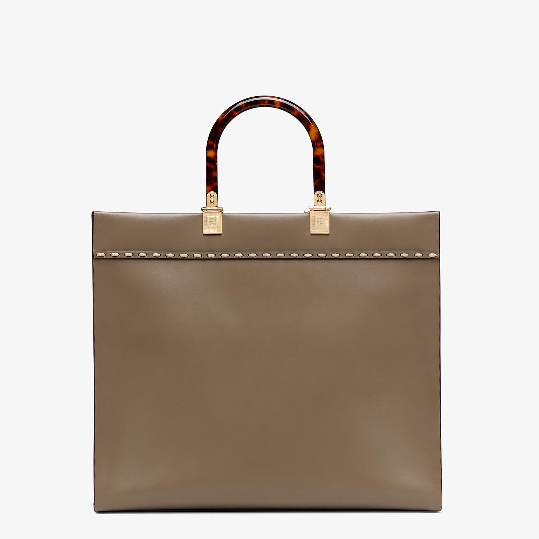 FENDI FENDI SUNSHINE MEDIUM - Shopper aus Leder in Grau und Elaphe - view 4 detail