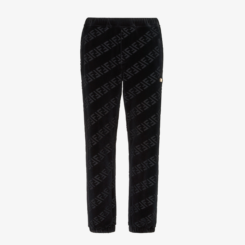 FENDI PANTS - Black velvet pants - view 1 detail