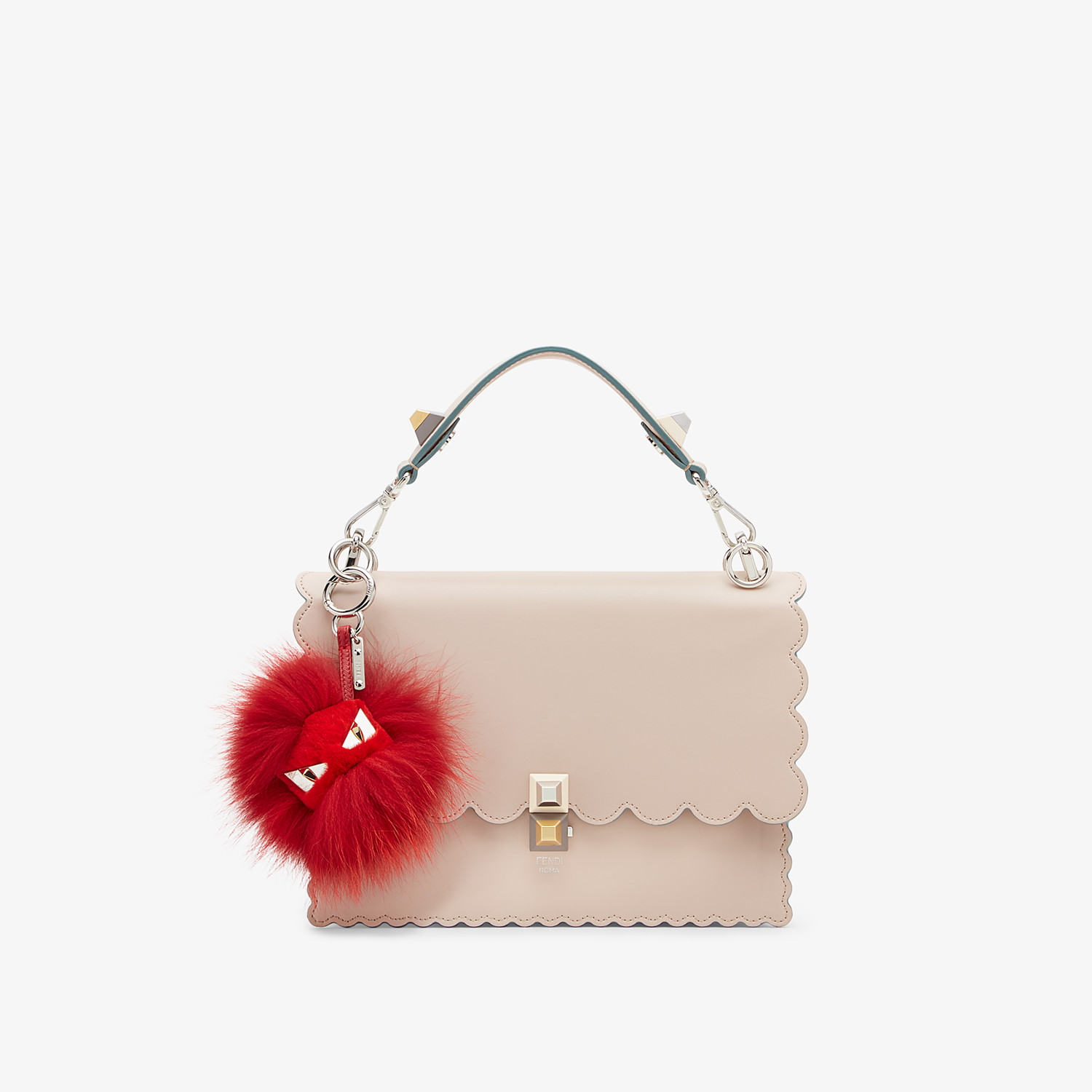 FENDI BAG BUGS CHARM - Red fur charm - view 2 detail