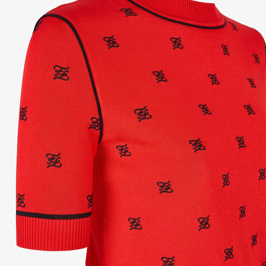 FENDI PULLOVER - Pullover aus Viskose in Rot - view 3 detail