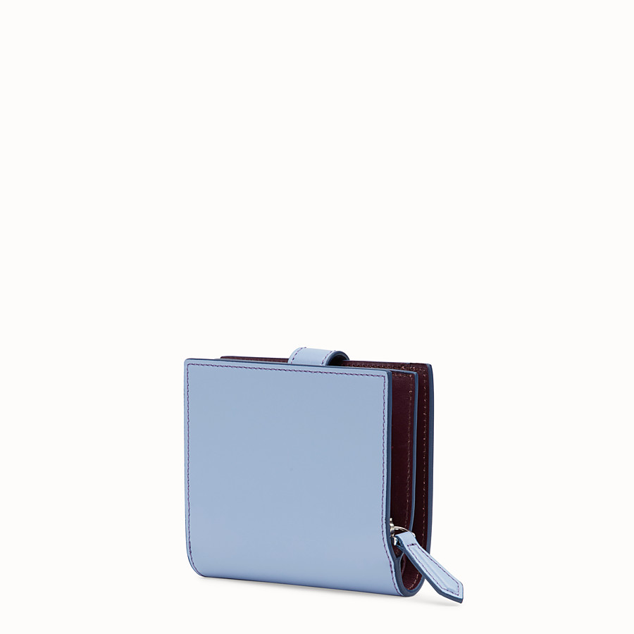 FENDI BIFOLD - Light blue compact leather wallet - view 2 detail