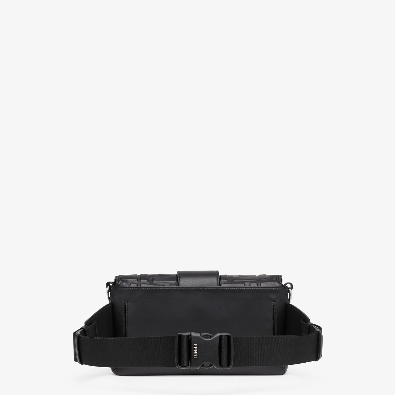 FENDI BAGUETTE - Black nappa leather bag - view 3 detail