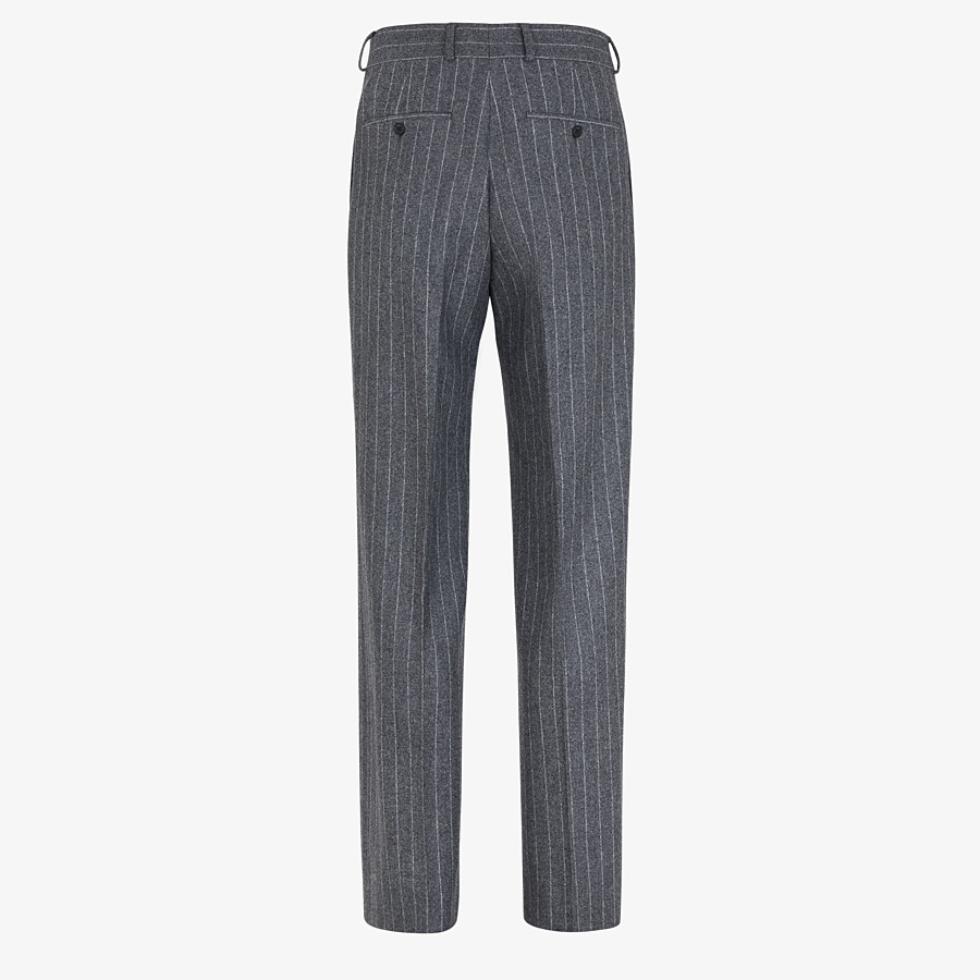 FENDI PANTS - Gray wool pants - view 2 detail