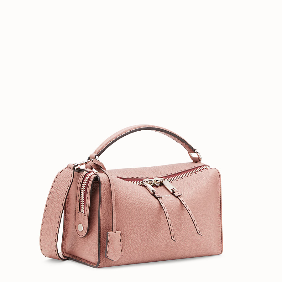 FENDI LEI BAG SELLERIA - Pink leather Boston bag - view 2 detail