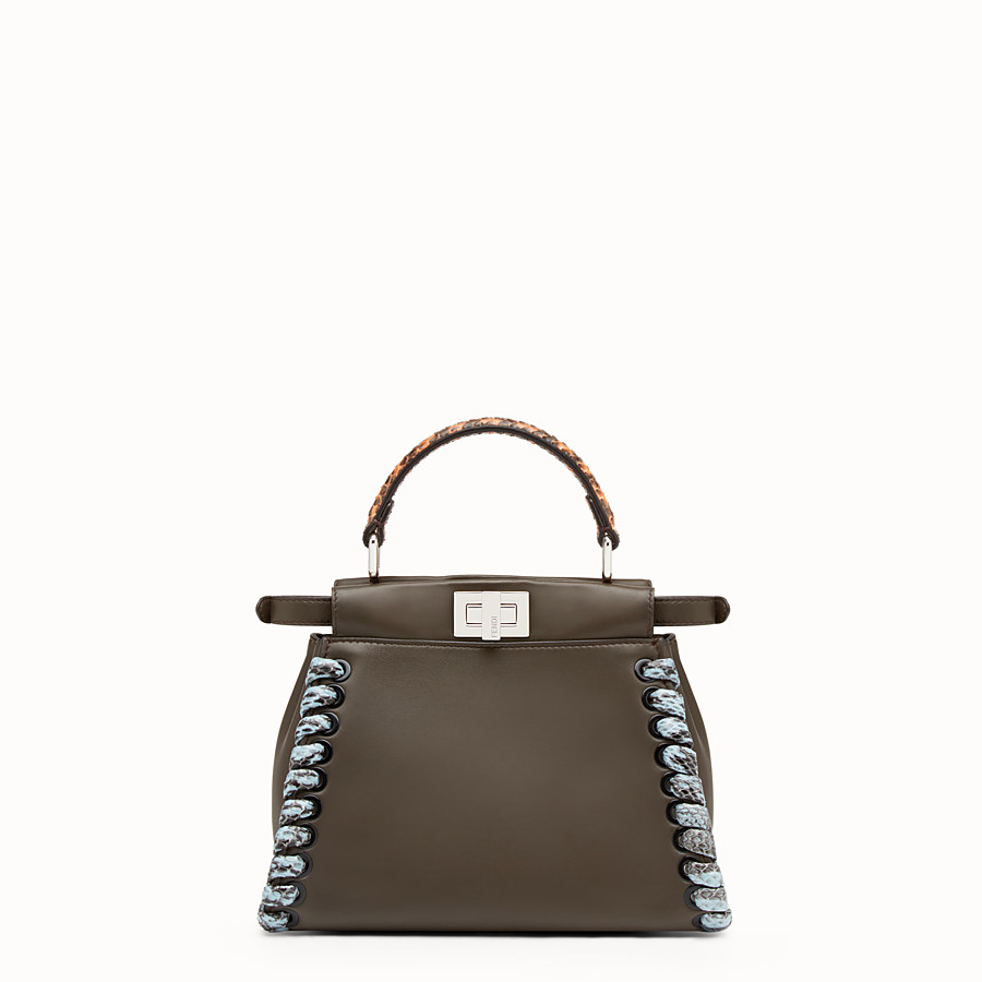 FENDI PEEKABOO MINI - Nappa leather handbag - view 3 detail