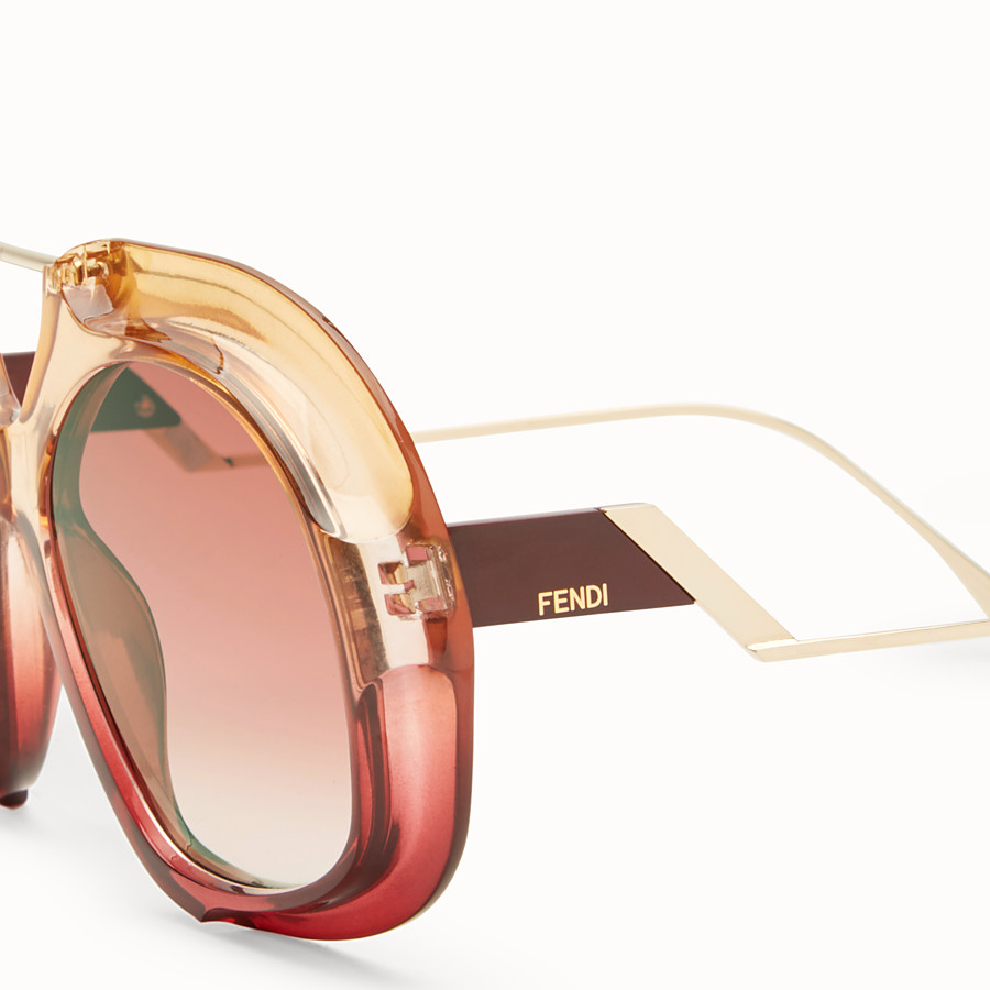 FENDI TROPICAL SHINE - Pink and red sunglasses - view 3 detail