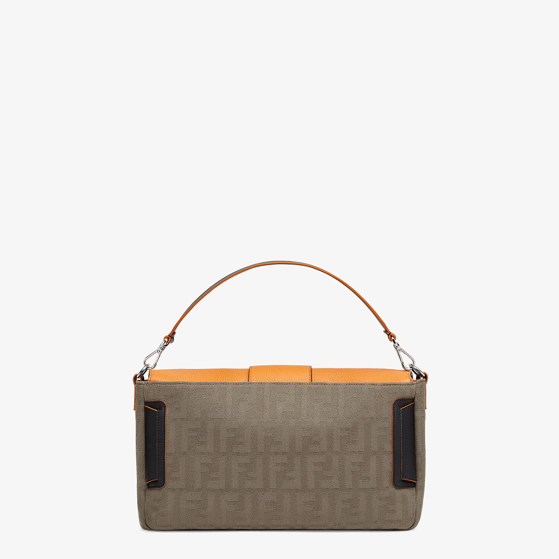FENDI BAGUETTE LARGE - Brown canvas bag - view 4 detail