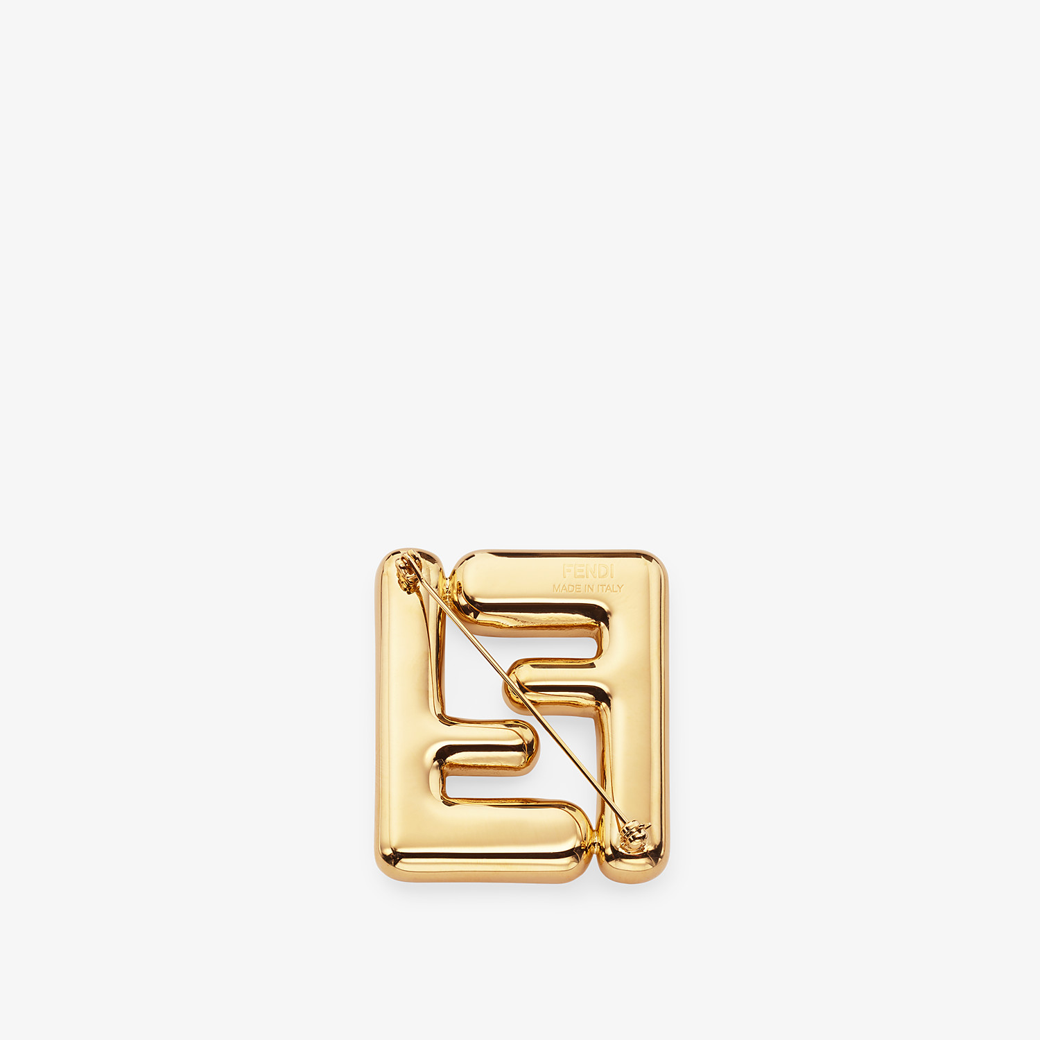 FENDI MAXI LOGO BROOCH - Gold-colored brooch - view 2 detail