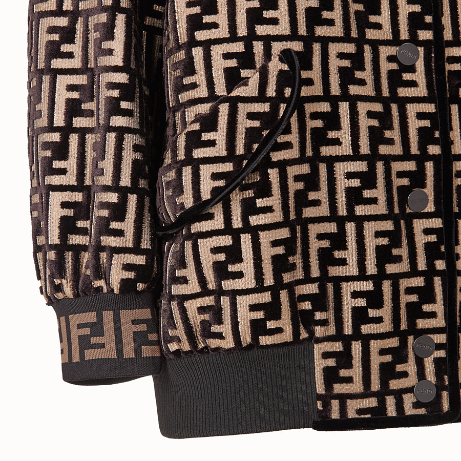FENDI VESTE - Blouson en velours multicolore - view 3 detail