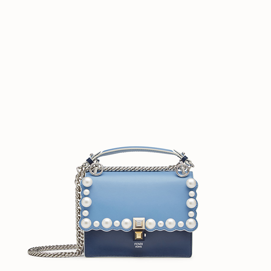 FENDI KAN I SMALL - Multicolour leather mini-bag - view 1 detail