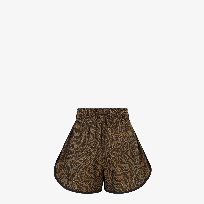 FENDI SHORTS - Brown canvas pants - view 2 detail