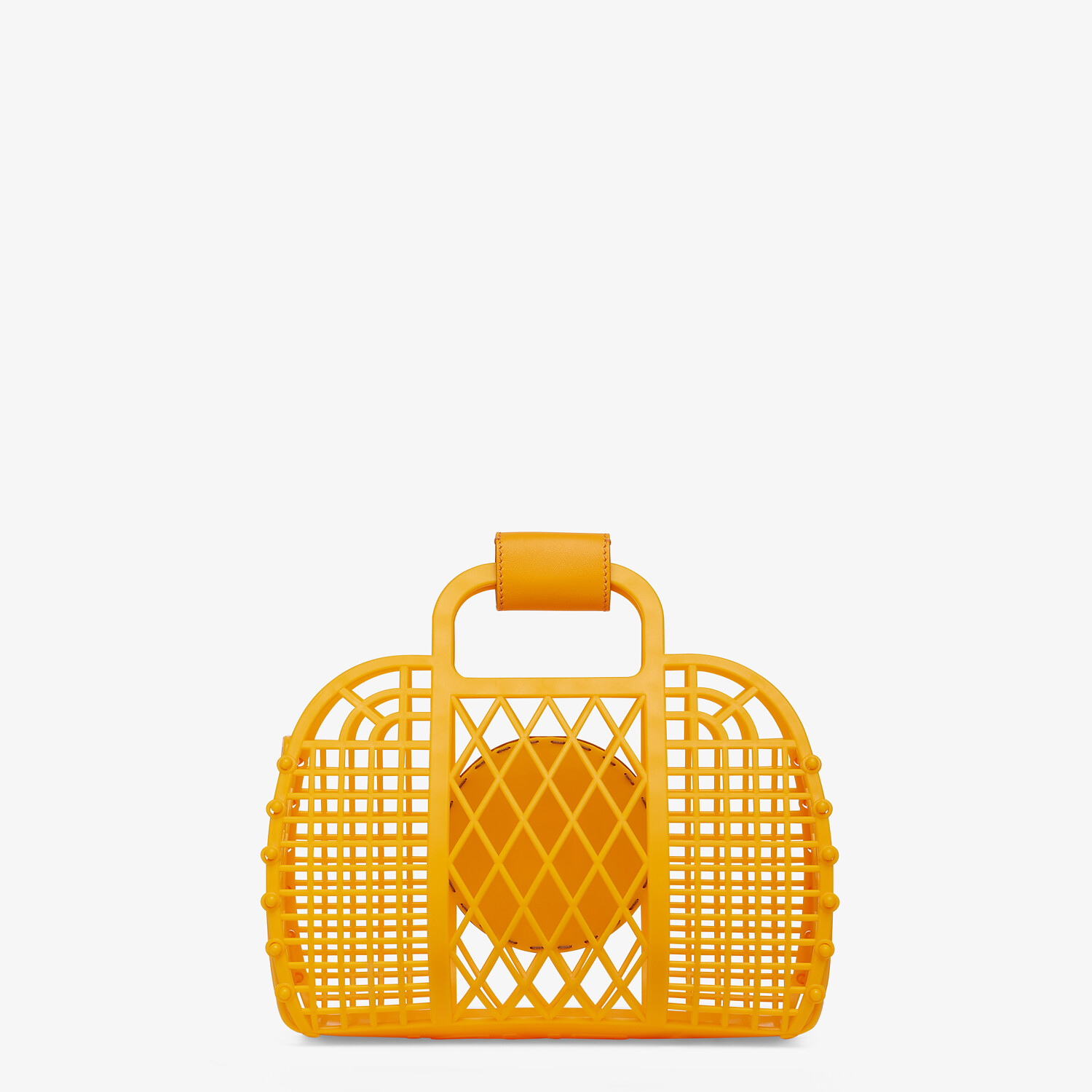 FENDI FENDI BASKET SMALL - Orange recycled plastic mini-bag - view 4 detail