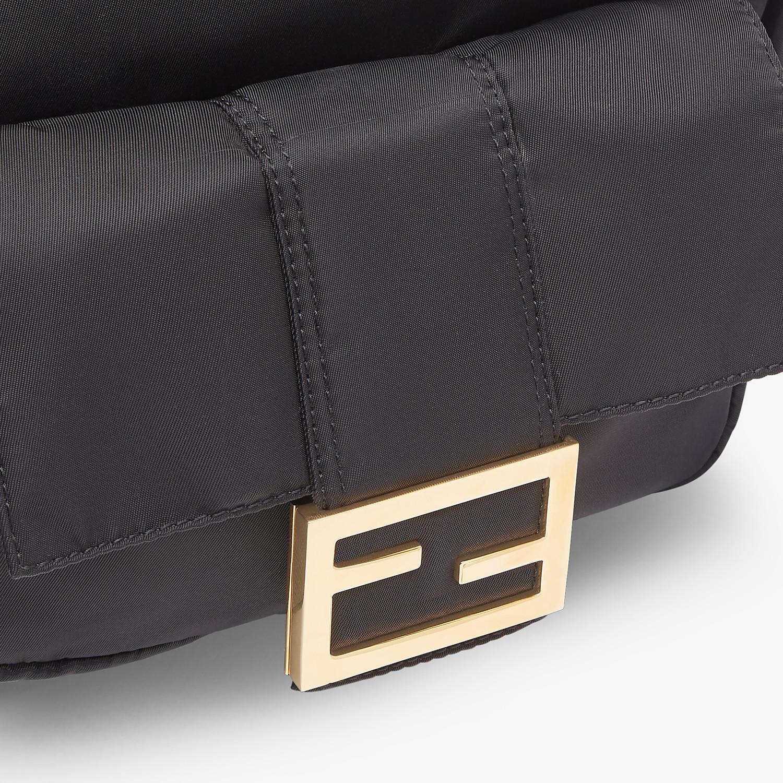 FENDI BAGUETTE BACKPACK - Black nylon backpack - view 5 detail