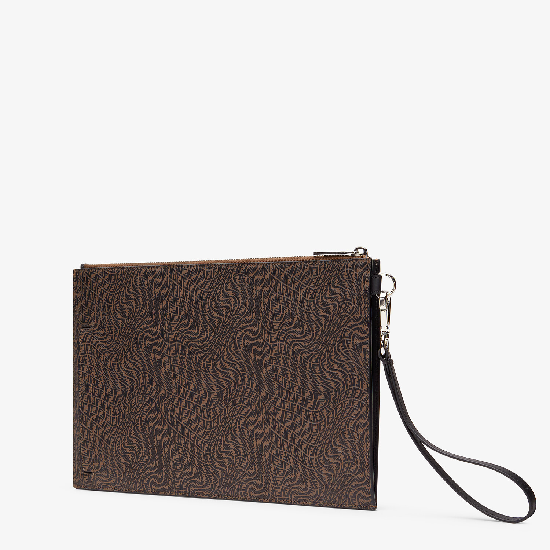 FENDI FLAT POUCH - Brown leather bag - view 2 detail