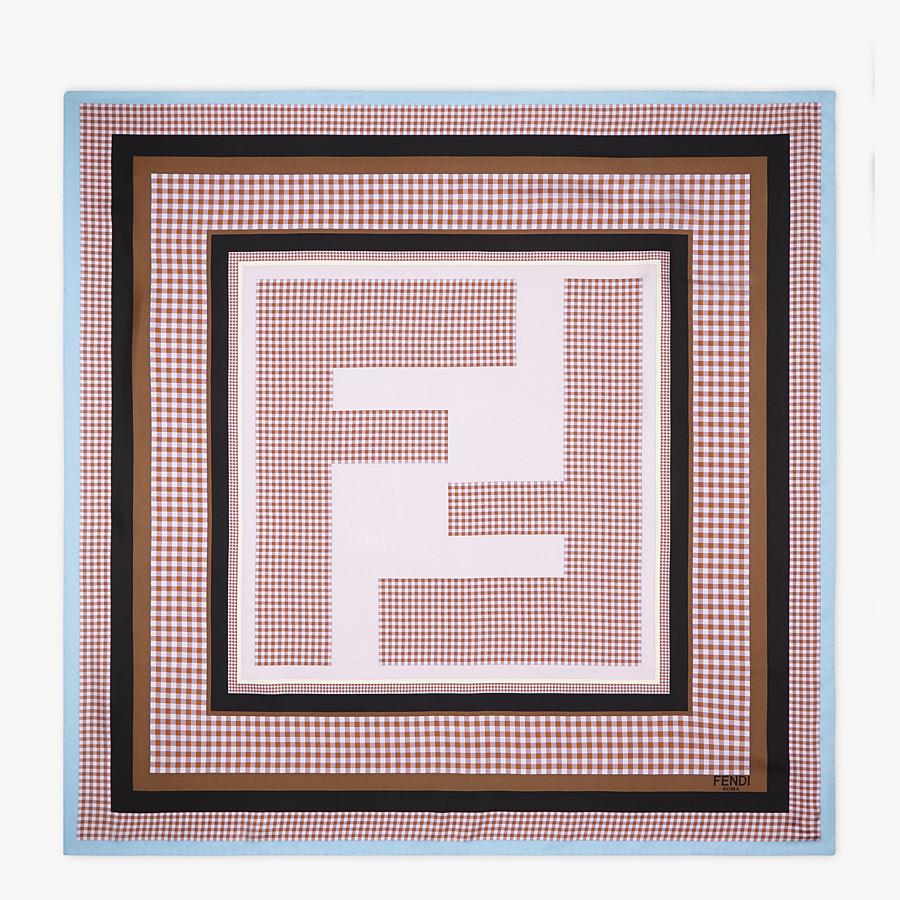 FENDI CHECK FOULARD - Pink silk foulard - view 1 detail