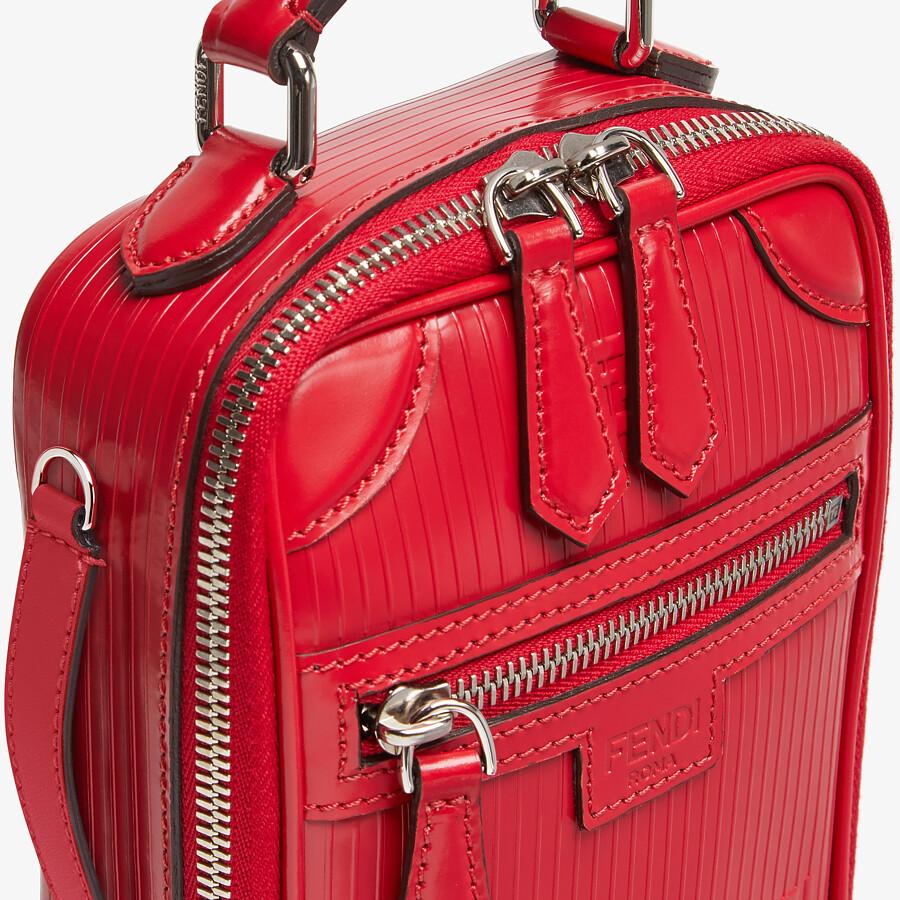 FENDI TRAVEL MINI BAG - Red leather bag - view 5 detail