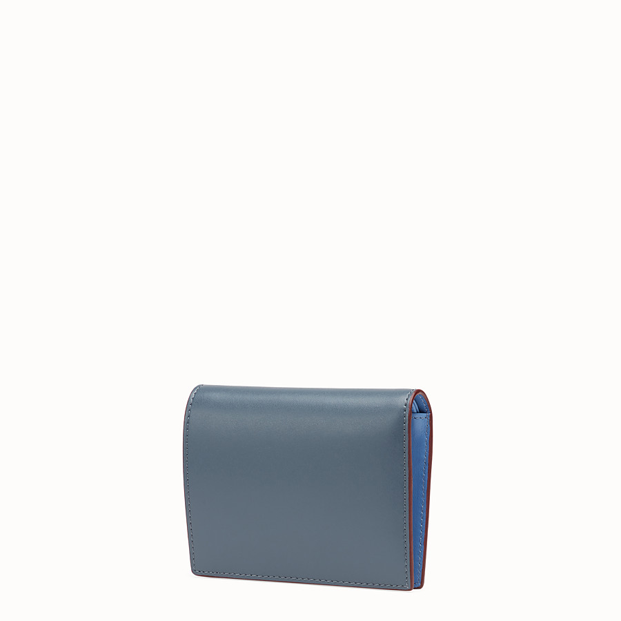 FENDI BIFOLD - Blue compact leather wallet - view 2 detail