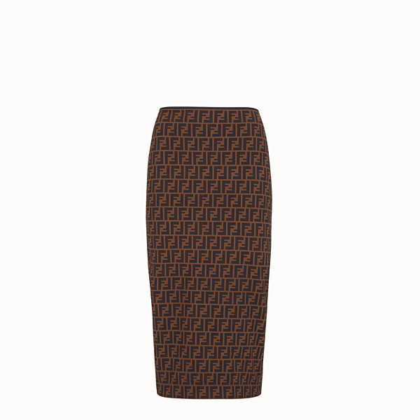 FENDI SKIRT - Brown micromesh skirt - view 1 small thumbnail