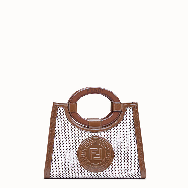 FENDI RUNAWAY SHOPPER - White leather shopper - view 1 small thumbnail