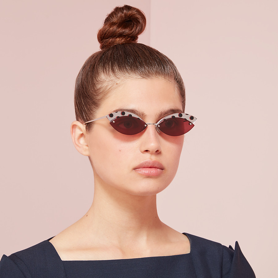 FENDI DEFENDER - Polka dots sunglasses - view 4 detail