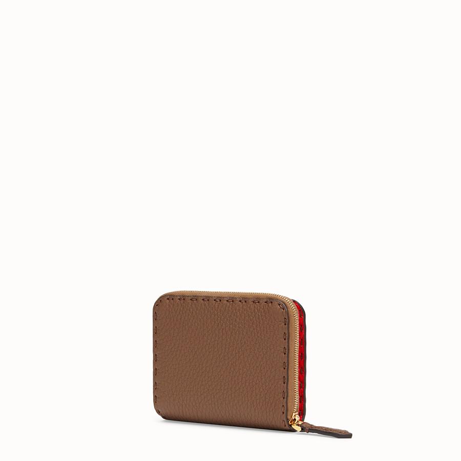 FENDI MEDIUM ZIP-AROUND - Brown leather wallet - view 2 detail