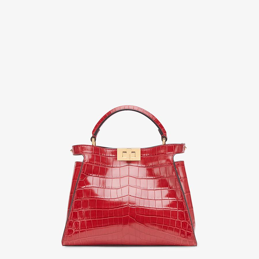 FENDI PEEKABOO ICONIC ESSENTIALLY - Red crocodile leather bag - view 1 detail