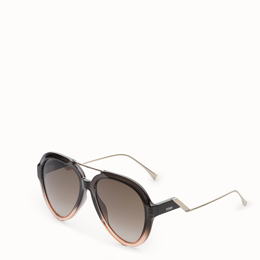 FENDI TROPICAL SHINE - Gray and pink sunglasses - view 2 detail