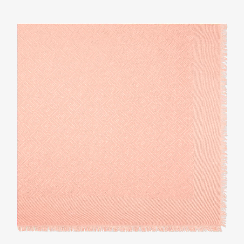 FENDI FF SHAWL - Shawl in pink wool and silk - view 1 detail