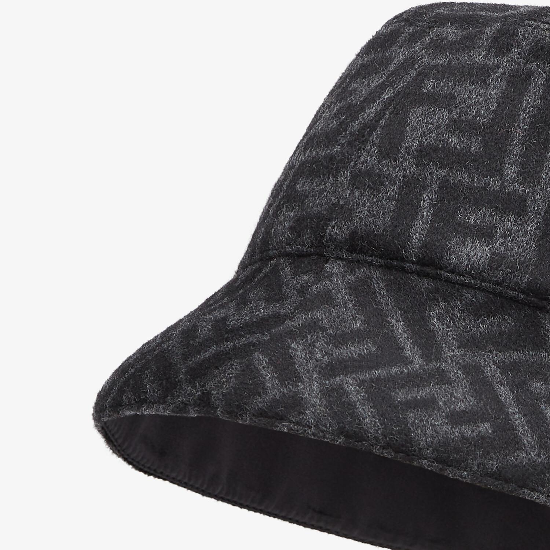 FENDI HAT - Gray wool bucket hat - view 2 detail