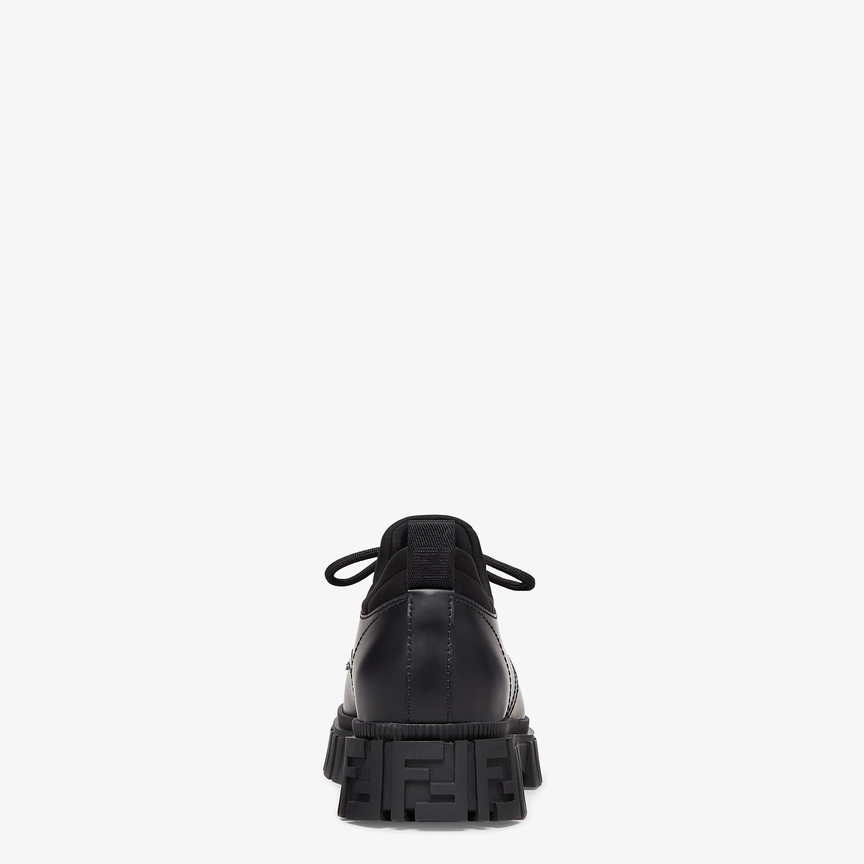 FENDI FENDI FORCE - Black leather lace-ups - view 3 detail