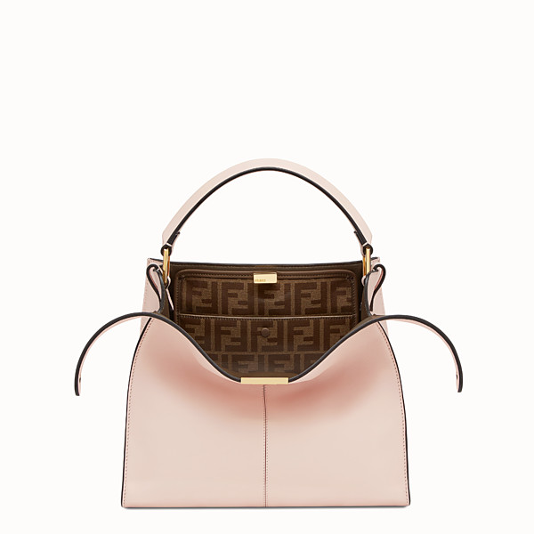 FENDI PEEKABOO X-LITE REGULAR - Pink leather bag - view 1 small thumbnail