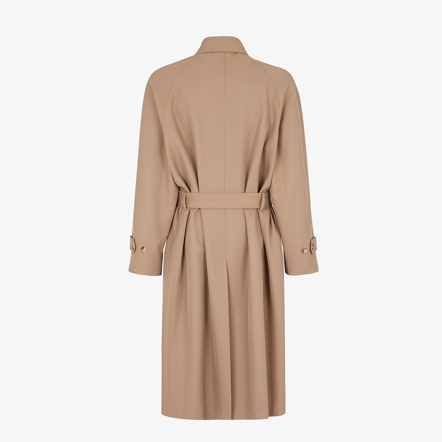 FENDI TRENCH COAT - Beige wool trench coat - view 2 detail